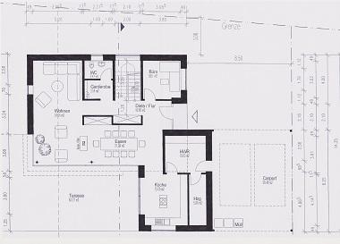Neubau Grundriss Erdgeschoss